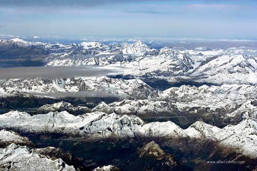 Balmhorn and Bietschhorn from Ticino