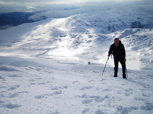 Nearing the summit of Meall Ghlas