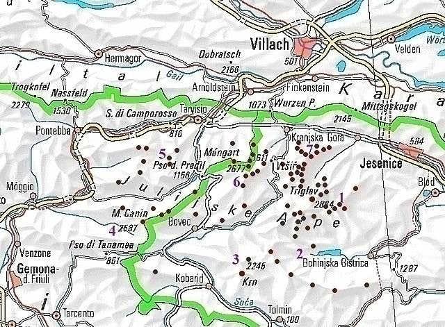 Julian Alps interactive map