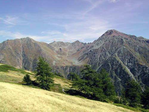 Western view of Monte Rosso di Vertosan