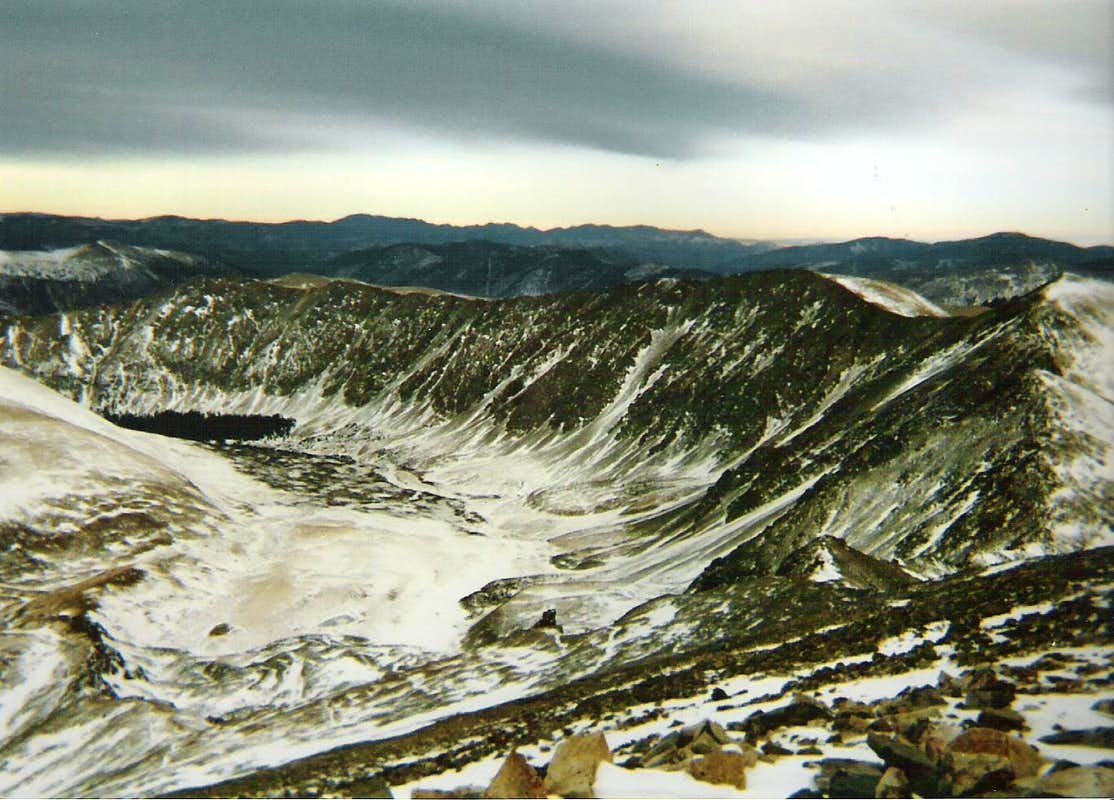 Looking Down at Stevens Gulch