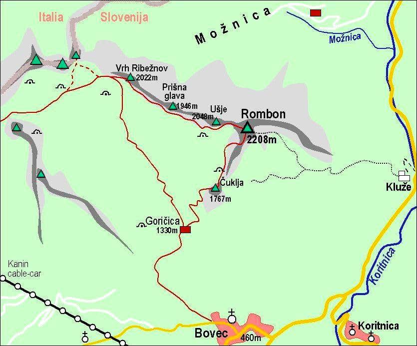 Rombon map