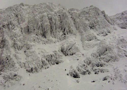 Snowdon in full winter garb