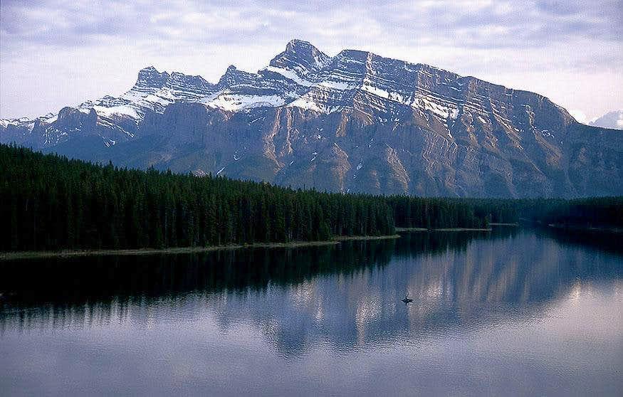 Mount Rundle over Two Jack Lake