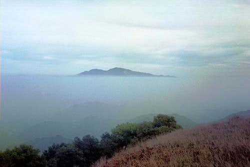 Mt. Diablo over fog cover, as...