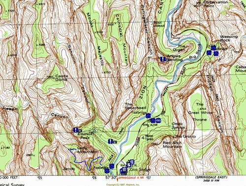 Lady Mountain Topo Route