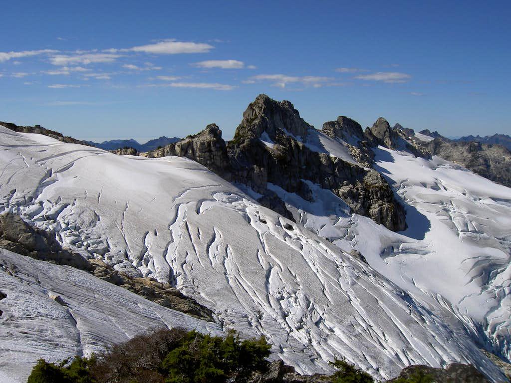 Mt Tom Taylor and  the Taylor Glacier