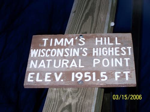 Highpoint of Wisconsin
