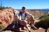 My boy, Tucker, and I on Mt. Gillen, Alice Springs, NT, Australia.