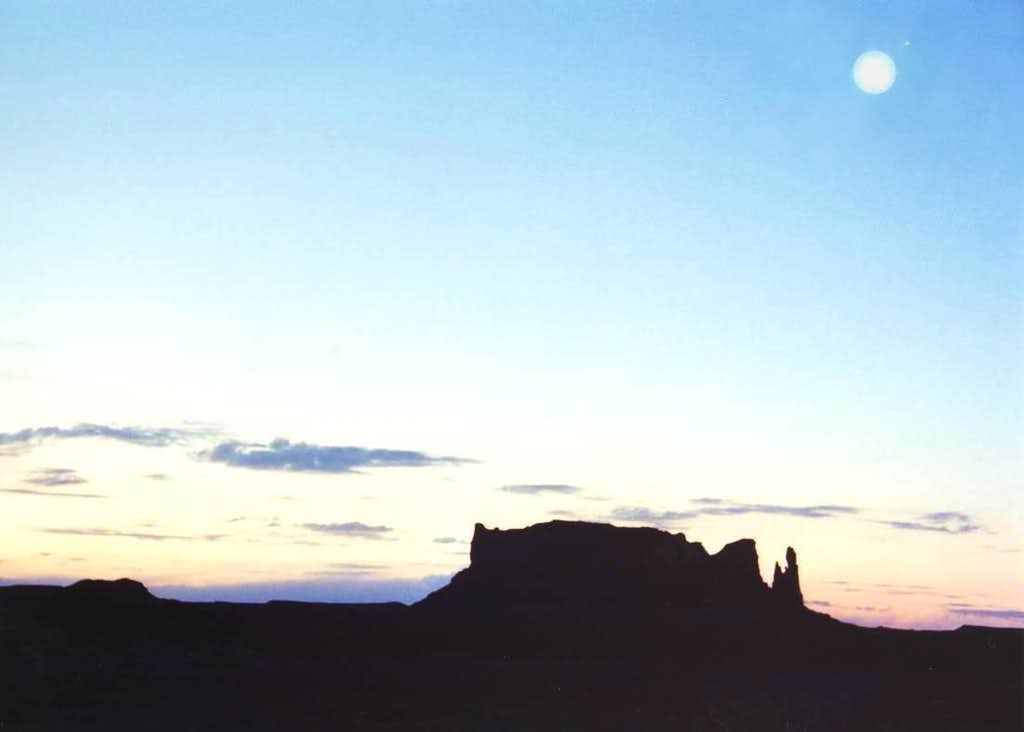 Moon, Mars and a Butte