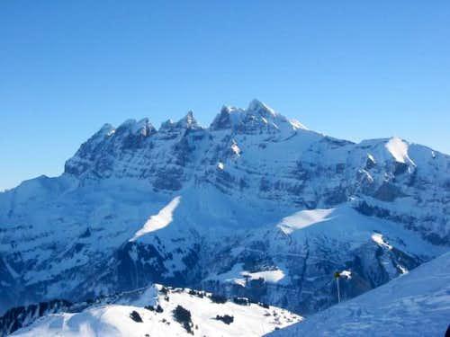 Haute Cime seen from the ski...