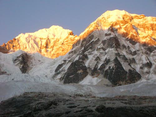 Forked Peak I and II (Kanchenjunga Massif)