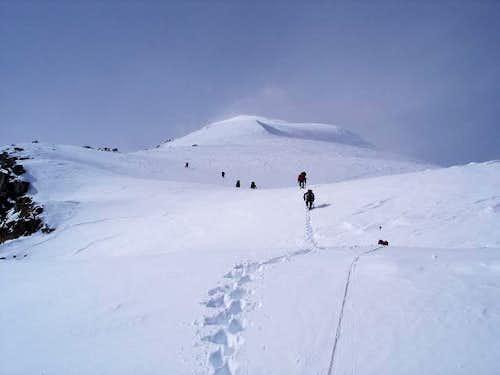 Winter Ascent of East Ridge