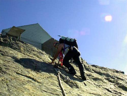 Doug ascends the last ladder...