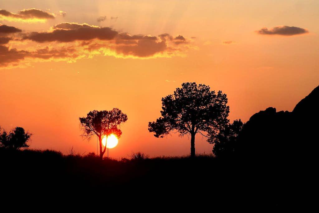 Chisos Basin Window Sunset