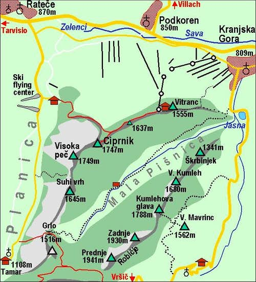 Ciprnik map