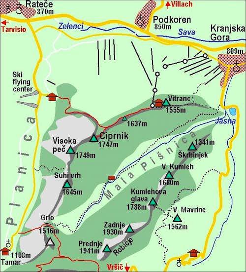 Ciprnik map