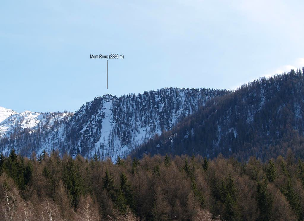 North side of Mont Roux <i>(2280 m)</i>