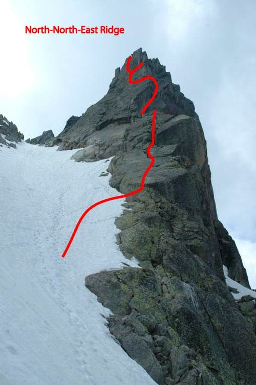 Aiguille de l'M North-North-East Ridge : Photos, Diagrams ... on ( ̄︶ ̄)↗  id=20123