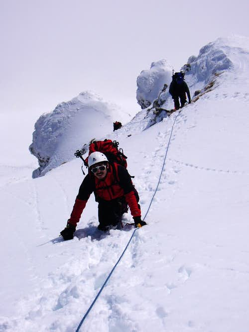 Climbing the Pizzo Cefalone