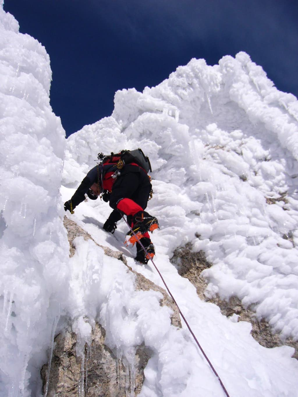Climbing the Pizzo Cefalone (2)