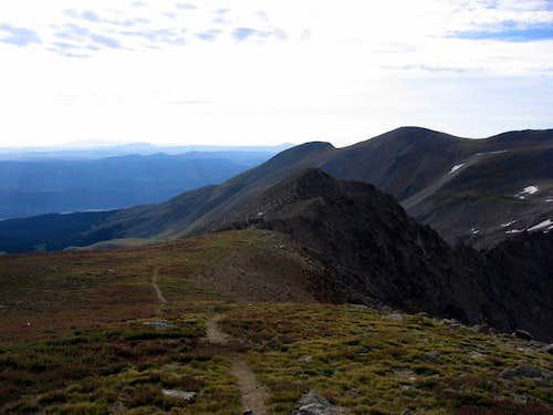 Trail off Harvard's summit