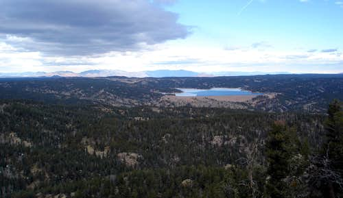 Rampart Reservoir from Ormes Peak