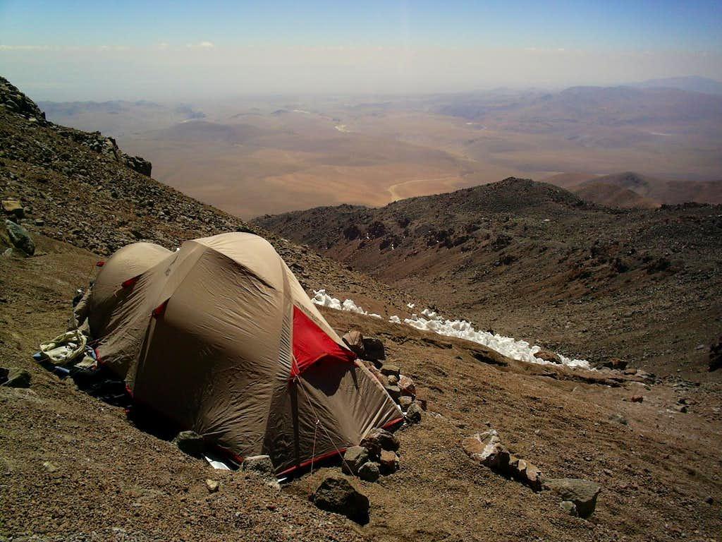 Camp at 5700m