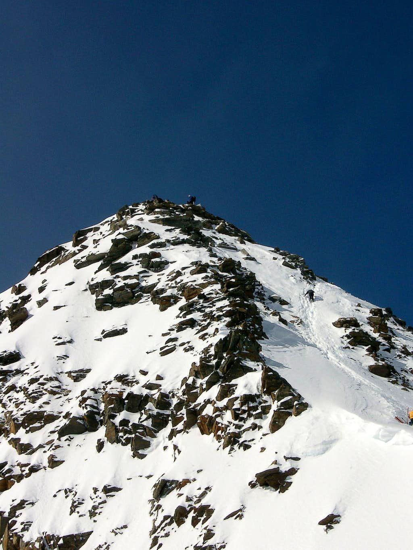 Final ascent to the top of Zuckerhuetl