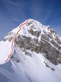 Winter route to Pizzo Cefalone