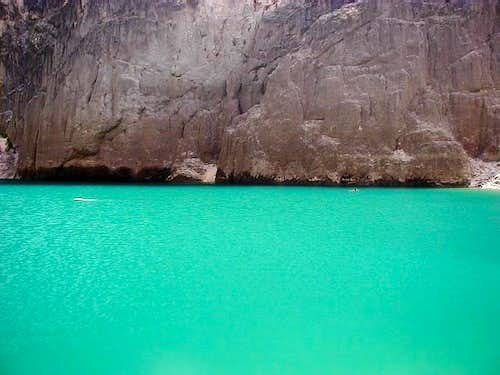 Amazing color of Modro Jezero...