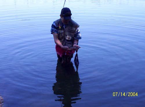 Me fishing in Fairy Lake