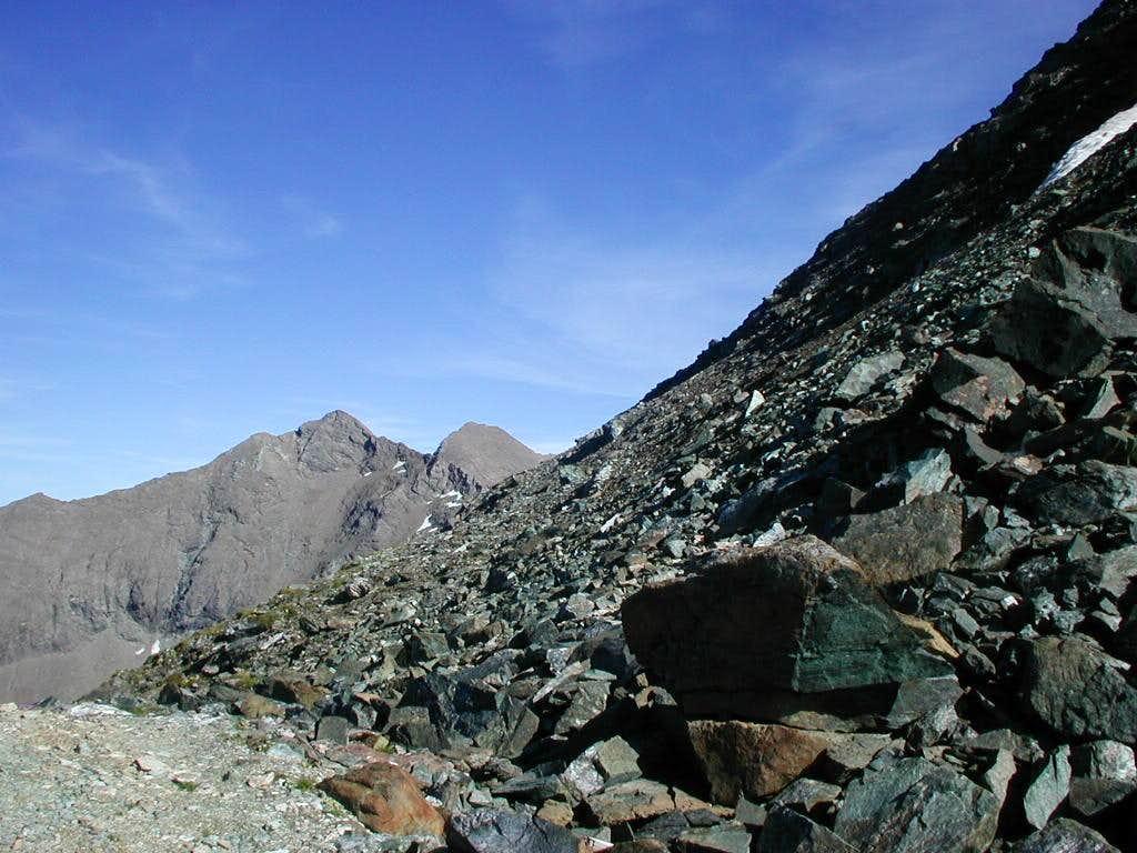 The steep slope of Punta Gianni Vert <i>3148m</i>