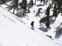 on the way down