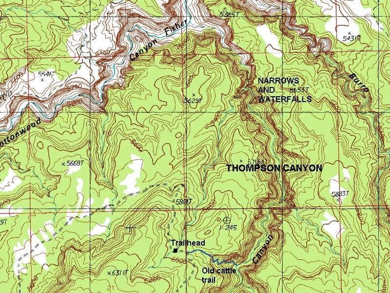 Thompson Canyon Map