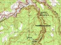 Thompson Canyon Map