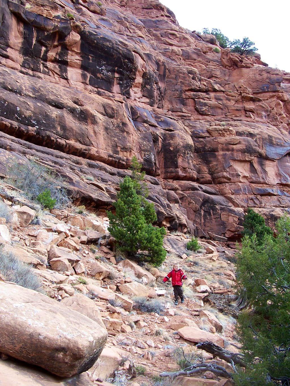 Route into Thompson Canyon