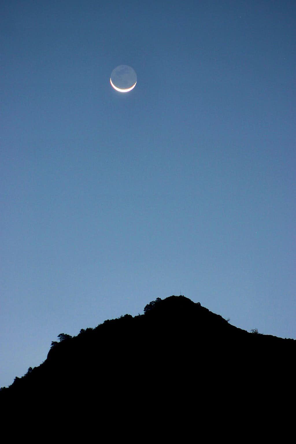 Chisos Basin Moonrise