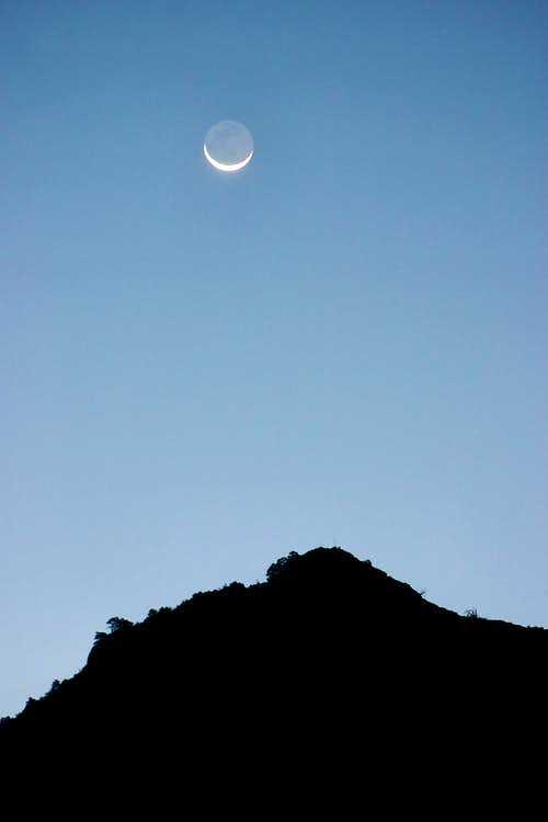 Chisos Basin Moonrise
