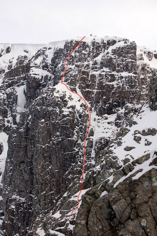 Thompson\'s Route (Scottish IV 4), Coire na Ciste, Ben Nevis