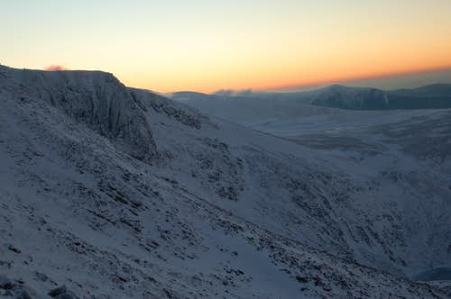 Sunset over Cairn Gorm