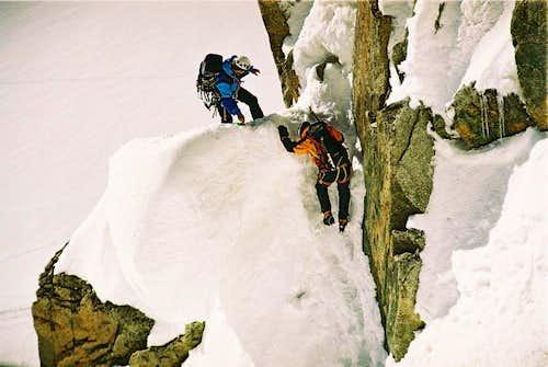 Cosmique's Ridge, Aiguille du Midi