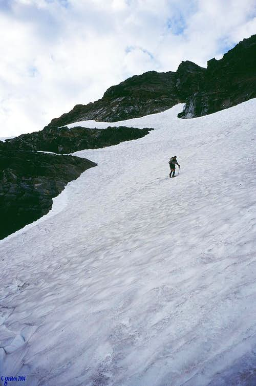 Descending the First Snowfield