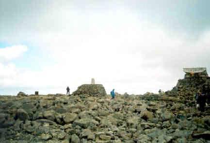 The summit of Ben Nevis,...