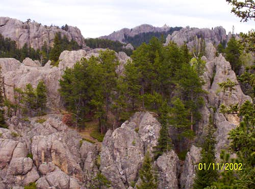 Harney Peak Firetower, SD, from trail