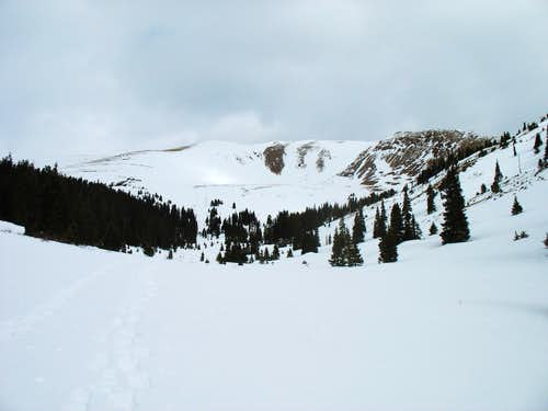Woods Mountain from the midpoint of the gulch