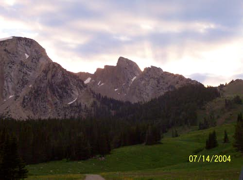 "Peak 9474, ""Frazier Peak""  and Hardscrabble Peak"