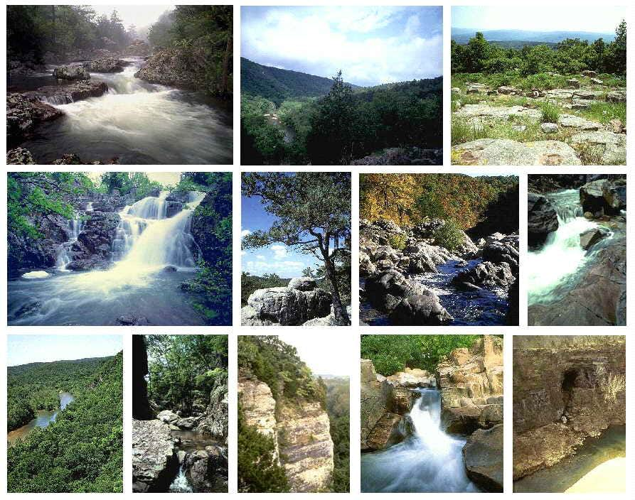 St. Francois Mountains collage
