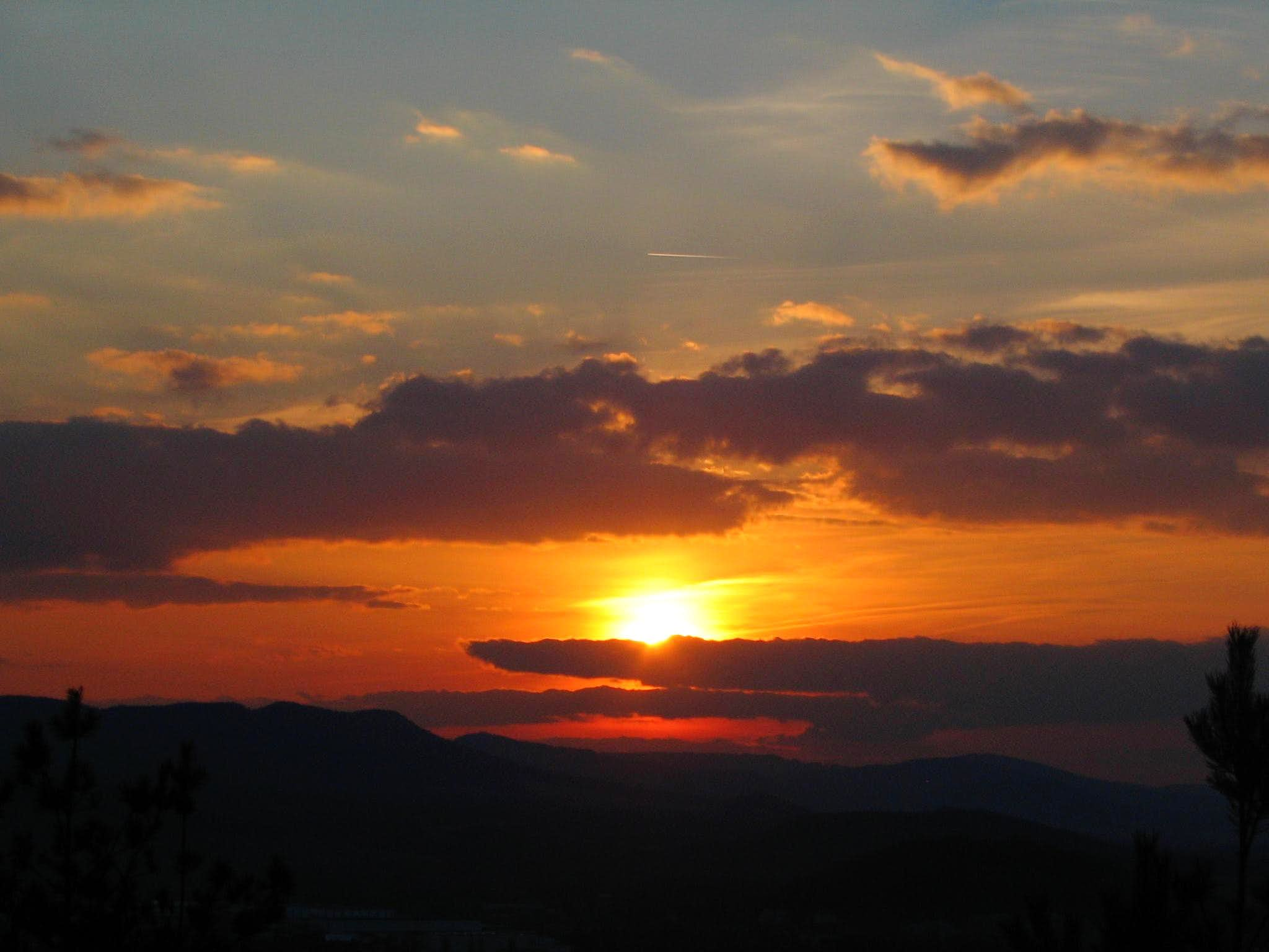 "The sun:sunsets from ""Mount"" Hurka"