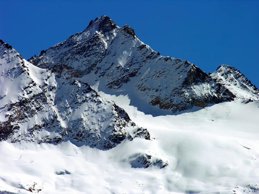 NW side of Punta di Forzo<i> (3296 m)</i> <br>and Arolla glacier